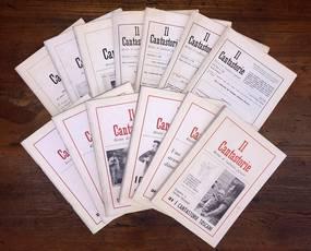 """Lotto di 13 numeri del periodico """"Il Cantastorie. Rivista di tradizioni popolari""""."""