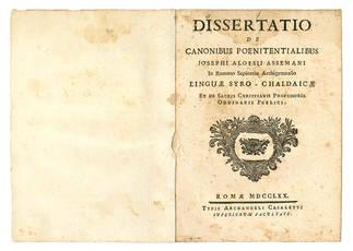 Dissertatio de canonibus poenitentialibus.