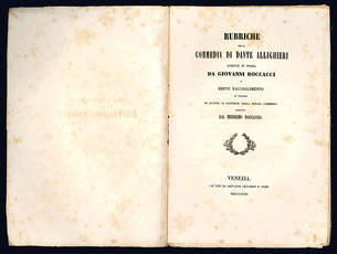 Rubriche della Commedia di Dante Allighieri.