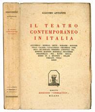 Il teatro contemporaneo in Italia.