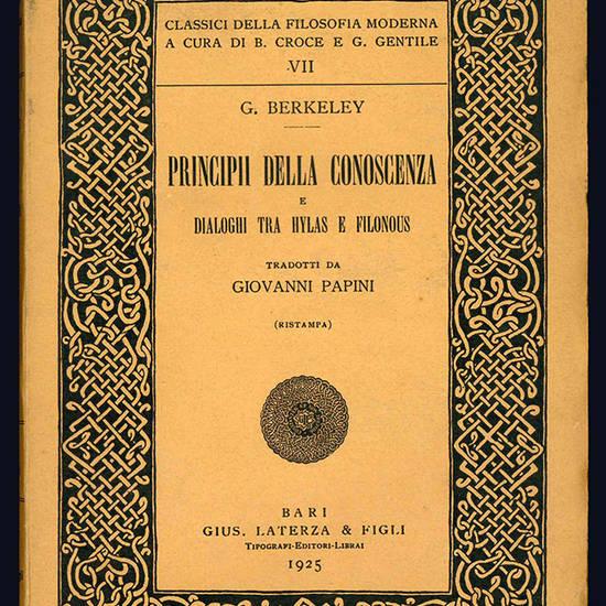 Principii della conoscenza e tre dialoghi tra Hylas e Filonous.