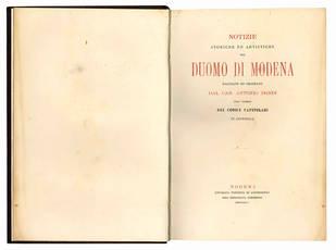 Notizie storiche ed artistiche del Duomo di Modena.