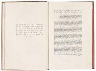 Petri Bembi Epistolarum Leonis Decimi Pontifici Max. nomine scriptarum libri sexdecim ad Paulum Tertium Pont. Max. Romam missi