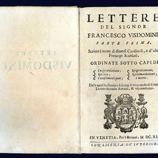 Lettere del signor Francesco Visdomini.