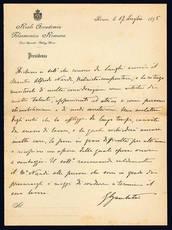 Lettera autografa. Roma: 17 luglio 1895.