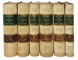 Vocabolario della lingua italiana compilato da Giovanni Gherardini in aggiunta dei dizionari Tramater, Alberti, Manuzzi, Bazzarini, ecc. ecc. Volume primo A-B (-Volume sesto T-Z).