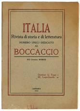 Italia rivista di storia e di letteratura. Numero unico dedicato al Boccaccio