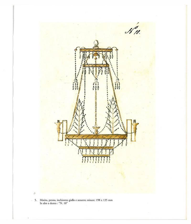 I lampadari di cristallo. Ventinove disegni di una manifattura boema.
