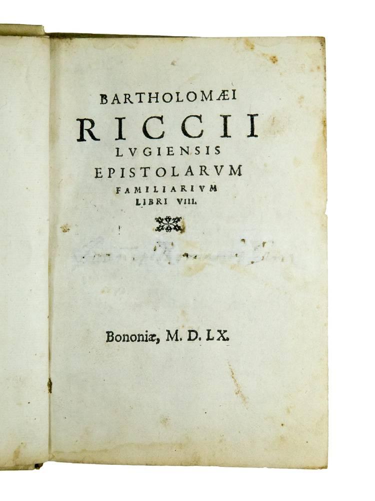 Epistolarum familiarium libri VIII