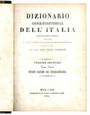 Dizionario corografico-universale dell'Italia. Volume Secondo Parte Prima.
