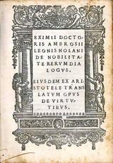 De nobilitate rerum dialogus