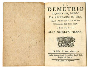 Il Demetrio dramma per musica
