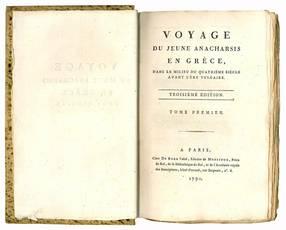 Voyage du jeune Anacharsis en Grèce, dans de milieu du quatrième siècle avant l'ère vulgaire. Troisième édition. Tome premier [-septième].