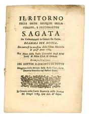 Il ritorno delle sacre reliquie della vergine, e protomartire S. Agata da Costantinopoli a Catania