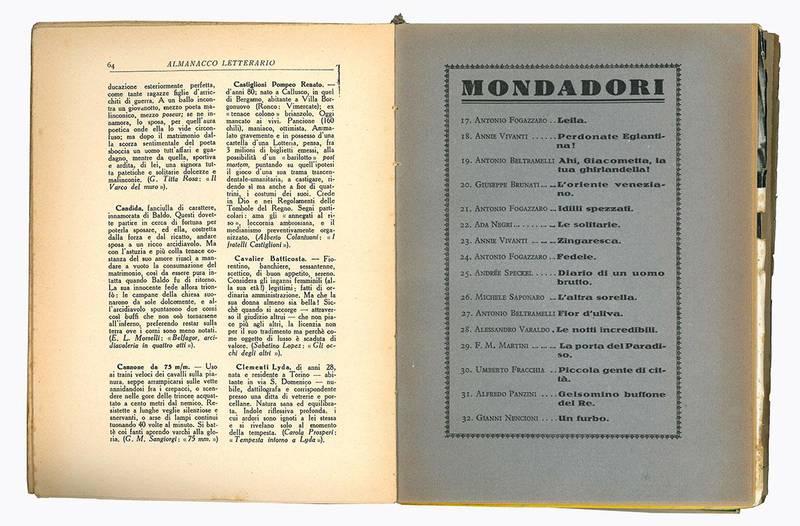 Almanacco letterario 1932