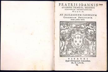 Oratio. Ad Alexandrum Farnesium cardinalem