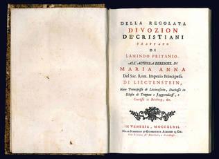 Della regolata divozion de' cristiani trattato di Lamindo Pritanio.