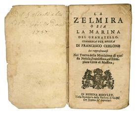 La Zelmira o sia la Marina del Granatello. Commedia per musica