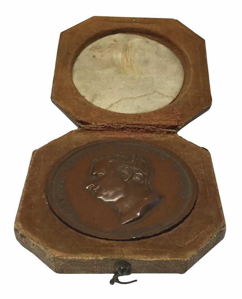 Medaglia d'onore decretata dal pubblico di Parma al celebre tipografo Gio. Battista Bodoni cittadino parmigiano