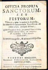 Officia propria Sanctorum, seu festorum