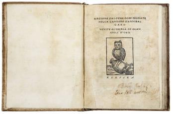 Le due opere che iniziano la querelle Caro-Castelvetro