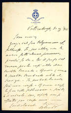 Lettera autografa. Vallombrosa: 30 agosto 1904.