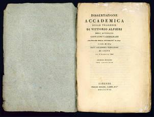 Dissertazione accademica sulle tragedie di Vittorio Alfieri.