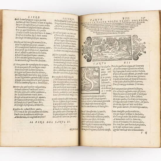 L'Orlando innamorato del signor Matteo Maria Boiardo conte di Scandiano, insieme co i tre libri di Nicolo de gli Agostini, nuovamente riformato per Lodovico Domenichi. Con gli argomenti, e le figure di nuovo accomodate al principio di ogni canto [?]