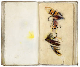 Manuscript on vellum in French with accompanying vellum pocket fly book. France, ca. 1830