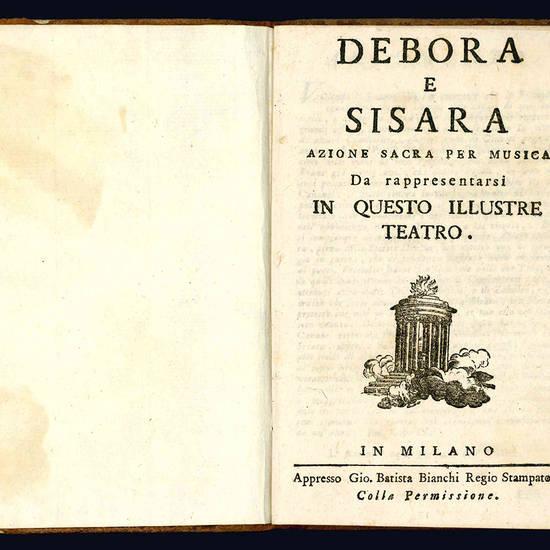 Debora e Sisara azione sacra per musica