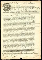 Collezione formata da 10 note di credito ipotecario e cambiali, tutte di area toscana e datate tra il 1805 e il 1821