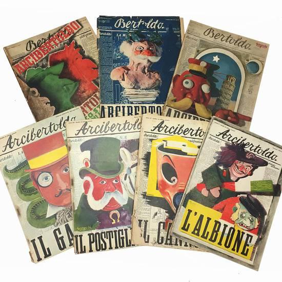Lotto di sette numeri dell' Arcibertoldo, edizione straordinaria del periodico Bertoldo.