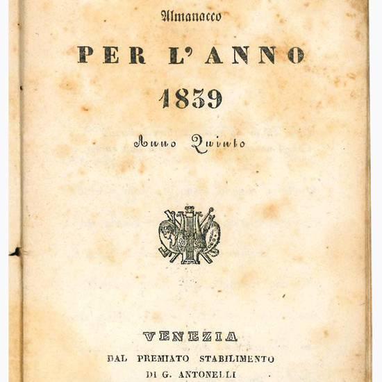 Almanacco per l'anno 1839. Anno quinto.