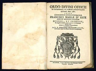 Ordo Divini Officii in Cathedrali, et Dioecesi nonantulana recitandi anno 1786.