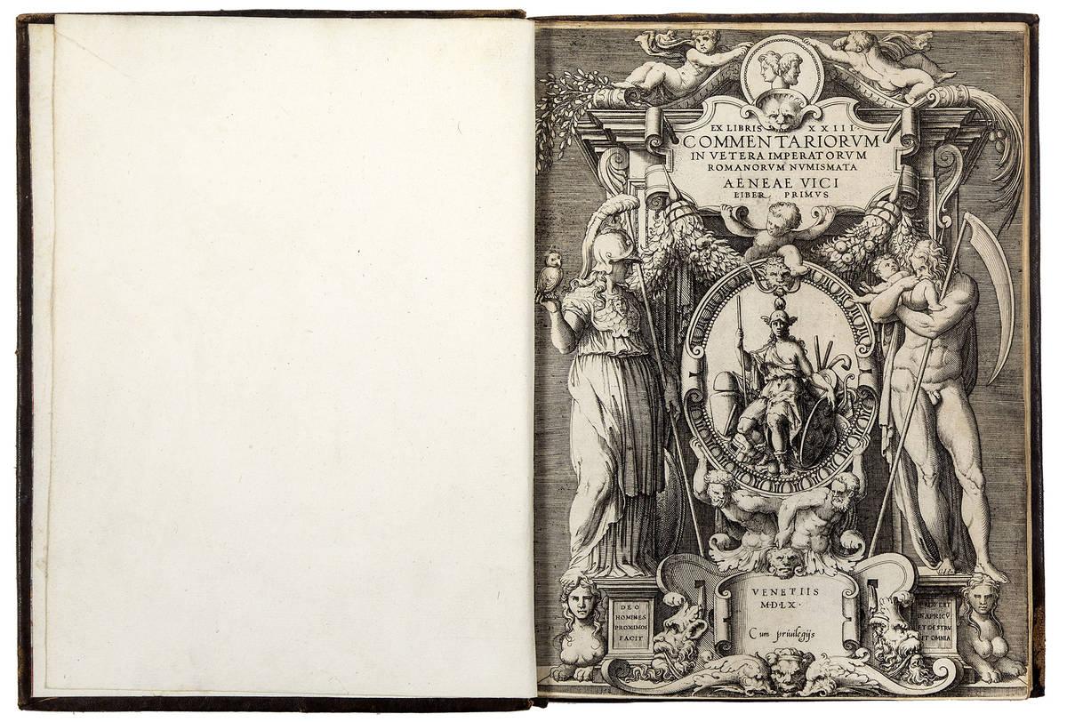 Ex libris XXIII commentariorum in vetera Imperatorum Romanorum numismata Aeneae Vici Liber primus