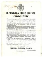 Notificazione del 12 Giugno 1854, con la quale si aboliva il dazio sull'importazione della seta all'