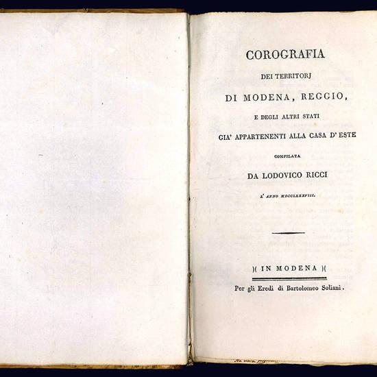 Corografia dei territori di Modena, Reggio e degli altri stati appartenenti alla casa d'Este