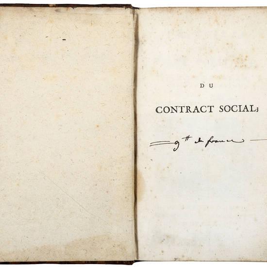 [Du contract social;] Principes du droit politique