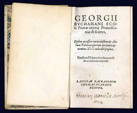 Franciscanus & fratres, Quibus accessere varia eiusdem & aliorum Poëmata [...] Eiusdem Psalmos soersim non sine accessione excudit