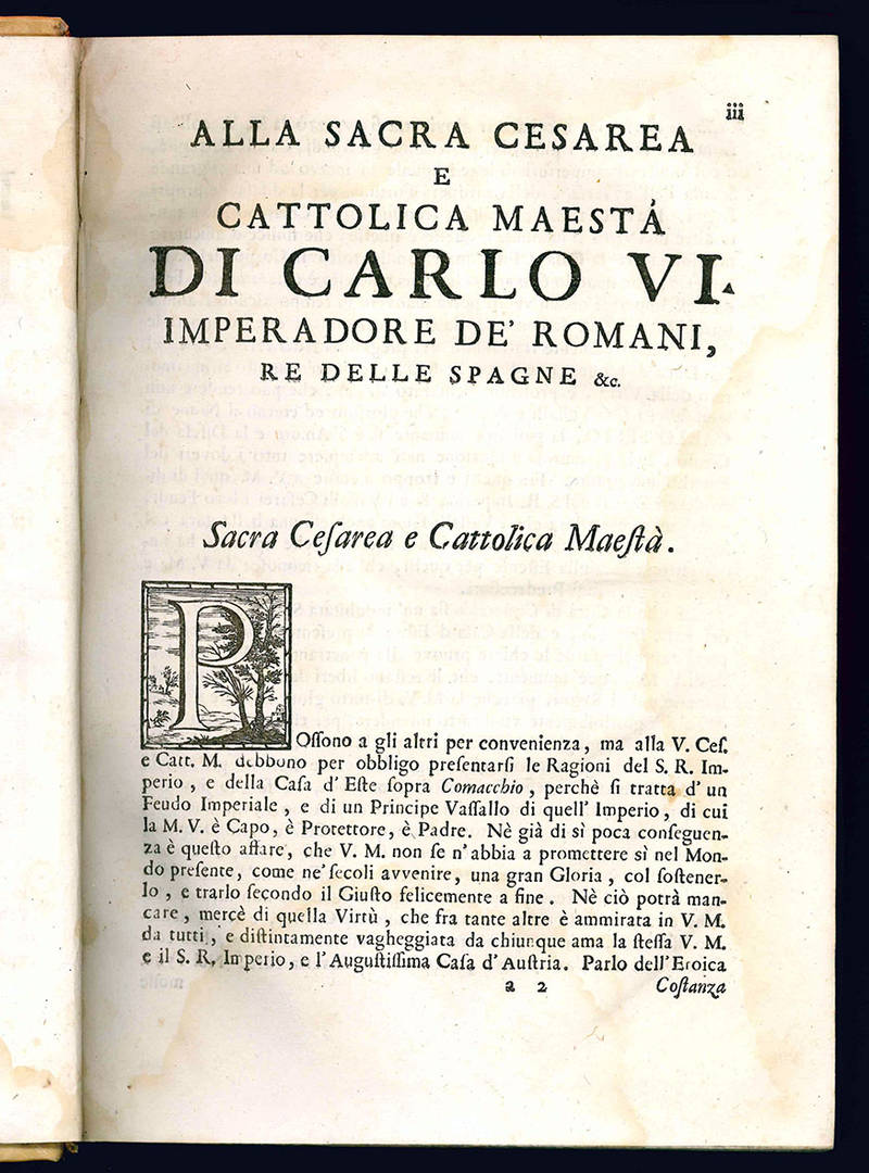 Piena esposizione de i diritti imperiali ed estensi sopra la città di Comacchio.