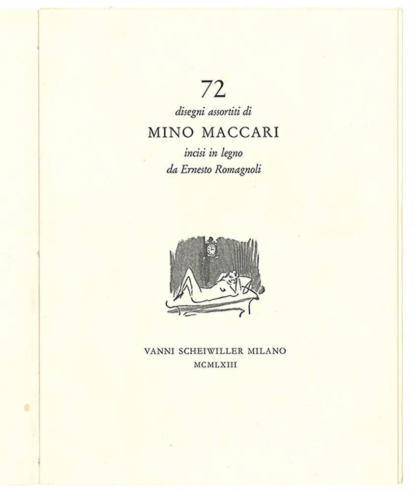 72 disegni assortiti di Mino Maccari incisi in legno da Ernesto Romagnoli.