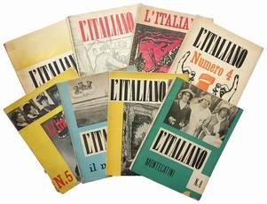 Lotto di otto numeri del periodico L'Italiano. Anno VI. Numeri 1-8.