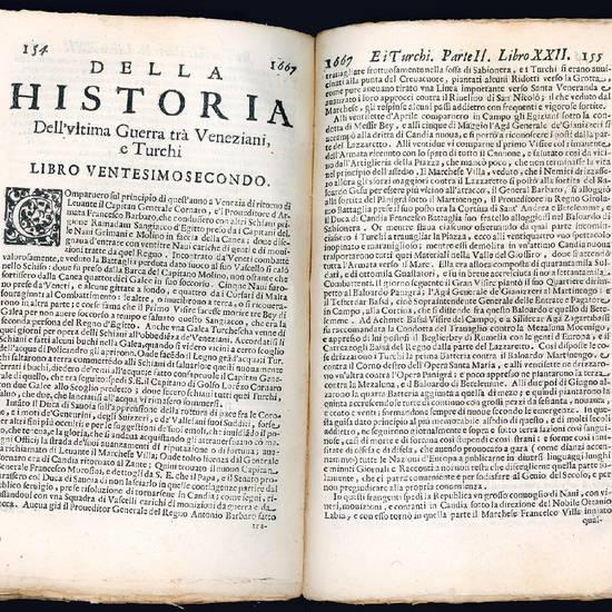 Historia dell?ultima guerra tra Veneziani, e Turchi di Girolamo Brusoni nella quale si contengono i successi delle passate guerre nei regni di Candia, e Dalmazia, dall?anno 1644. fino al 1671 [?]