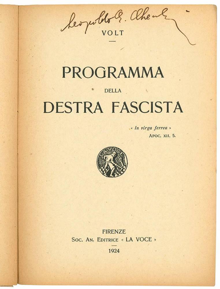 Programma della destra fascista.