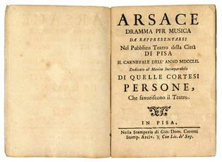 Arsace dramma per musica