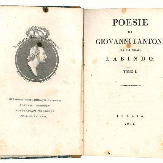 Poesie di Giovanni Fantoni fra gli arcadi Labindo Tomo I (-II,III)