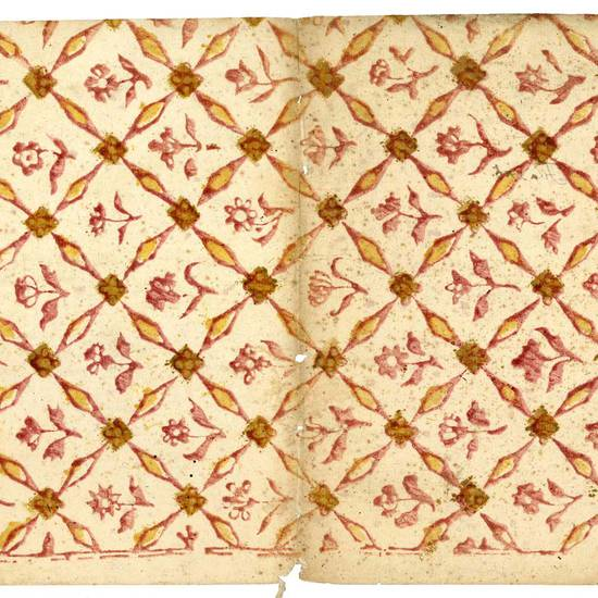 Raccolta di carte colorate del Settecento e primo Ottocento
