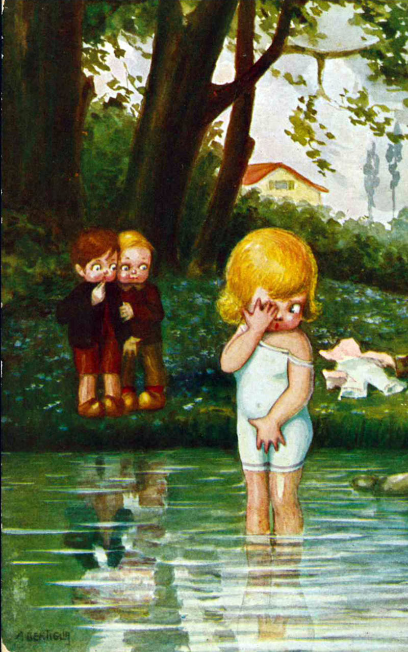 11 cartoline raffiguranti bambini (mm 90x140 ca.)