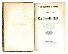 Mémoires de Caussidière, ex-prèfet et représentant du peuple.