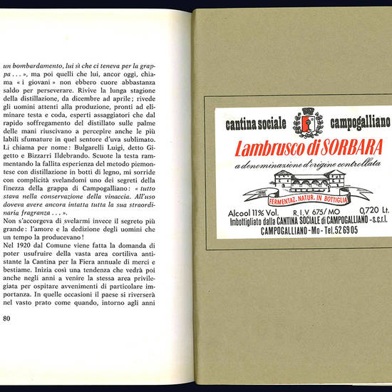 Campogalliano e la cantina sociale 1908-1978.